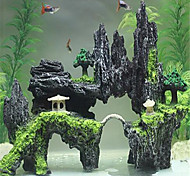 Aquarium Decoration Back Row Center Bridge Decor Ornament Non-toxic & Tasteless Resin