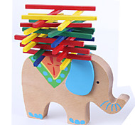 cheap -Stacking Game Toys Stacking Tumbling Tower Toys Balance Novelty Elephant Animal Wood Classic Cartoon 1 Pieces Girls' Boys' Gift