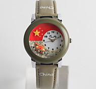 Недорогие -Модные часы Кварцевый / PU Группа На каждый день Синий Серый
