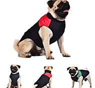 Cat Dog Coat Vest Dog Clothes Keep Warm Color Block Red Green Blue Costume For Pets