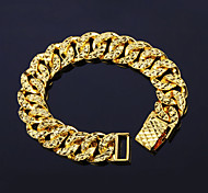 cheap -Men's Women's Chain Bracelet Fashion Rock Punk Copper Gold Plated 24K Plated Gold Irregular Jewelry Christmas Gifts Wedding Party Special