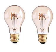 B22 E26/E27 LED Filament Bulbs G60 1 leds COB Dimmable Warm White 400lm 2700-3500K AC 220-240 AC 110-130V