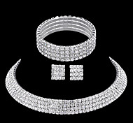 cheap -Rhinestone Jewelry Set - Rhinestone Include Silver For Wedding / Party / Casual