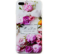 For Pattern Case Back Cover Case Flower Soft TPU for Apple iPhone 7 Plus iPhone 7