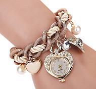 cheap -Women's Wrist Watch Imitation Diamond / Cool Alloy Band Charm / Heart shape / Vintage Brown