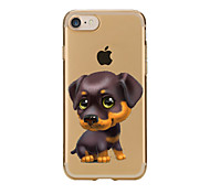 For iPhone 7 Lovely Dog TPU Soft Ultra-thin Back Cover Case Cover For Apple iPhone 7 PLUS  7 6s 6 Plus SE 5s 5 5C