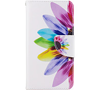 For Samsung Galaxy J3(2016) J5(2016) Case Cover Colorful Flower Pattern PU Material Painted Mobile Phone Case J3 Prime