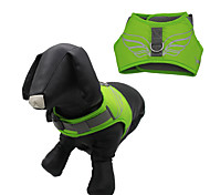 Dog Harness Adjustable / Retractable Waterproof Reflective Cartoon Nylon Mesh Orange Dark Blue Yellow Green Light Blue