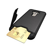 cheap -For ASUS ZenFone 3 (ZE552KL)(5.5) Case Cover Card Holder Shockproof with Stand Back Cover Solid Color Hard PC
