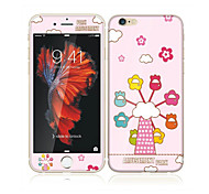 For Apple iPhone 6s/6 4.7 Tempered Glass with Soft Edge Full Screen Coverage Front Screen Protector and Back Protector Sky Wheel Cartoon Pattern