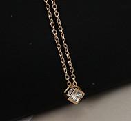 cheap -Women's Rhinestone Imitation Diamond Pendant Necklace - Fashion Square Gold Silver Necklace For Casual