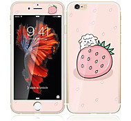 cheap -For Apple iPhone 6s/6 4.7 Tempered Glass with Soft Edge Full Screen Coverage Front Screen Protector and Back Protector Strawberry Cartoon Pattern
