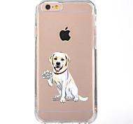 Para iPhone X iPhone 8 Case Tampa Transparente Estampada Capa Traseira Capinha Cachorro Macia PUT para Apple iPhone X iPhone 8 Plus