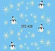 cheap -1pcs Water Transfer Sticker Nail Sticker Christmas Ornaments Nail Decals Christmas Nail Art Design