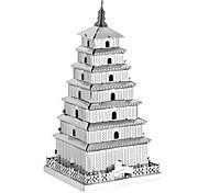 Недорогие -3D пазлы Пазлы Металлические пазлы Наборы для моделирования Игрушки Башня Знаменитое здание Китайская архитектура Архитектура 3D Своими
