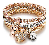 cheap -Women's Charm Bracelet Turkish Multi Layer Cute Style Personalized Costume Jewelry Fashion Rhinestone Animal Shape Owl Jewelry For Party