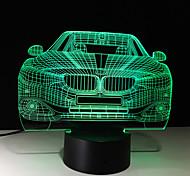 1шт сенсорный 7-цвет автомобиля светильник водить 3d свет цвет видение стерео красочный градиент акриловая лампа ночного видения света