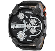 cheap -Military Watch Quartz Fabric Band Cool Black Red Green Navy White Orange Red Blue