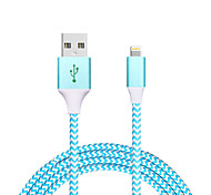 USB 2.0 Geflochten Normal Kabel Für Apple iPhone iPad 120 cm Metall Nylon Aluminium