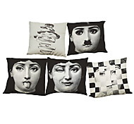 Set of 5 Lina Cavalieri  pattern  Linen Pillow Case Bedroom Euro Pillow Covers 18x18 inches  Cushion cover