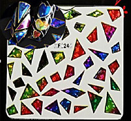 1pcs Nail Art XF Series Laser Glitter Sticker DIY Lovely Star Bow-knot Geometric Image Water Transfer Decals Nail Art Beauty XF6239-6246