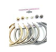 cheap -Women's Imitation Pearl Pearl Stud Earrings Hoop Earrings - Dangling Style Multi-ways Wear Gold Round Earrings For Wedding Party Daily