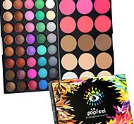 40 Color Eyeshadow + 15 Color Face Blush&Concealer Contour Консилер/Contour Румяна Хайлайтеры и бронзеры+ТениСухие влажный Матовое стекло