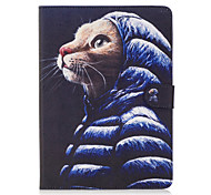 For Apple iPad 4 3 2 Case Cover Cute Cat Pattern Painted Card Stent Wallet PU Skin Material Flat Protective Shell