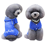 abordables -Perro Abrigos Saco y Capucha Impermeable Mono Ropa para Perro Bonito Moda Británico Azul Oscuro Fucsia Disfraz Para mascotas