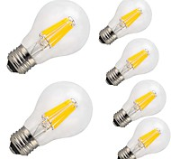 cheap -6pcs 9W 1100lm E26 / E27 LED Filament Bulbs A60(A19) 12 LED Beads COB Decorative Warm White Cold White 220-240V