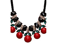 cheap -Women's Crystal Crystal Rhinestone Statement Necklace - Sexy Euramerican Cute Style Others Red Necklace For Wedding Party Special