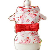 Недорогие -Собака смокинг Одежда для собак Очаровательный Косплей День рождения Свадьба Новый год Цветы Лиловый Красный Розовый Черный Светло-Зеленый