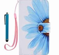 Per portafoglio portacarta copertura caso con supporto modello flip modello completo corpo con fiore stilo fiore hard pu per appleiphone 7