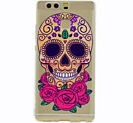 For Case Cover Transparent Pattern Back Cover Case Skull Soft TPU for HuaweiHuawei P10 Plus Huawei P10 Lite Huawei P10 Huawei P9 Huawei