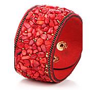 Недорогие -Кожаные браслеты Кожа Others Винтаж Богемия Стиль Хип-хоп Бижутерия 1шт Черный Лиловый Красный Синий