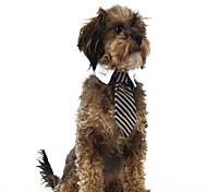 Недорогие -Кошка Собака Свитера Рождество пояс/Бабочка Одежда для собак В полоску Красный Синий полоса Ткань Костюм Для домашних животных Муж. Жен.