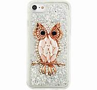 """Per iPhone X iPhone 8 Custodie cover Liquido a cascata Fantasia/disegno Custodia posteriore Custodia Fantasia """"Gufo"""" Glitterato Morbido"""