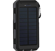 cheap -8000mAh Solar Power Bank Portable Solar Phone Charger Outdoors Emergency External Battery for Cellphone Multi-Output Flashlight
