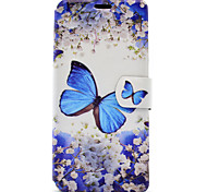 cheap -Case For Sony Sony Xperia C6 Ultra Sony Xperia XA Card Holder with Stand Flip Magnetic Pattern Full Body Cases Butterfly Hard PU Leather