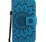 For Case Cover Wallet Card Holder with Stand Flip Embossed Full Body Case Flower Hard PU Leather for SamsungJ7 (2016) J7 Prime J7 J5