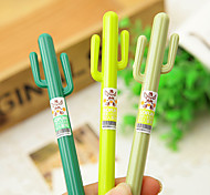 12 PCS Cactus Gel Pen Pen Gel Pens PenPlastic Barrel Black Ink Colors For School Supplies Office Supplies