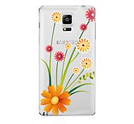 abordables -Coque Pour Samsung Galaxy Transparente Motif Coque Fleur Flexible TPU pour Note 5 Note 4 Note 3 Note 2
