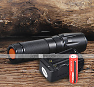 UltraFire W-878 LED Flashlights / Torch LED 2200 lm 5 Mode Cree XM-L T6 with Batteries and Charger Adjustable Focus Camping/Hiking/Caving