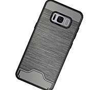 Недорогие -Кейс для Назначение SSamsung Galaxy S8 Plus S8 Бумажник для карт Защита от удара со стендом Задняя крышка Сплошной цвет Твердый PC для S8