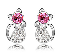 Women's Stud Earrings Crystal Unique Design Animal Design Fashion Personalized Euramerican Chrome Jewelry For Wedding Party Birthday Gift