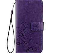 Для Кошелек Бумажник для карт со стендом Рельефный Кейс для Чехол Кейс для Один цвет Твердый Искусственная кожа для XiaomiXiaomi Redmi 4