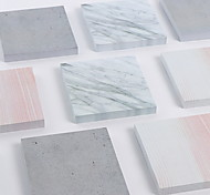 1 PCS 75 Pages Marble Grain Self-Stick Notes Cute For School / Office