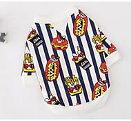 Perro Camiseta Ropa para Perro Transpirable Bonito Casual/Diario Rayas Rojo Negro/Blanco Disfraz Para mascotas