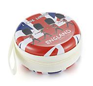 cheap -Fidget Hand Spinner Finger bag British Wind Metal Earphone Universal Case