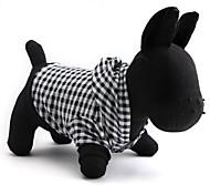 Недорогие -Кошка Собака Толстовки Одежда для собак В клетку Черный Хлопок Костюм Для домашних животных